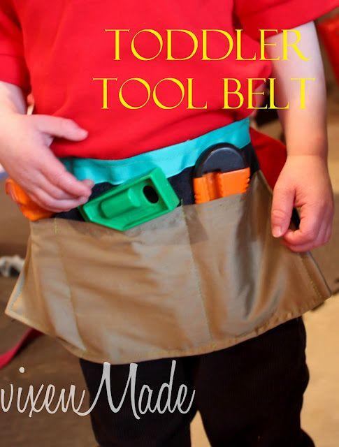 diy toddler tool belt! wish i knew how to sew lmao! | little junior ...