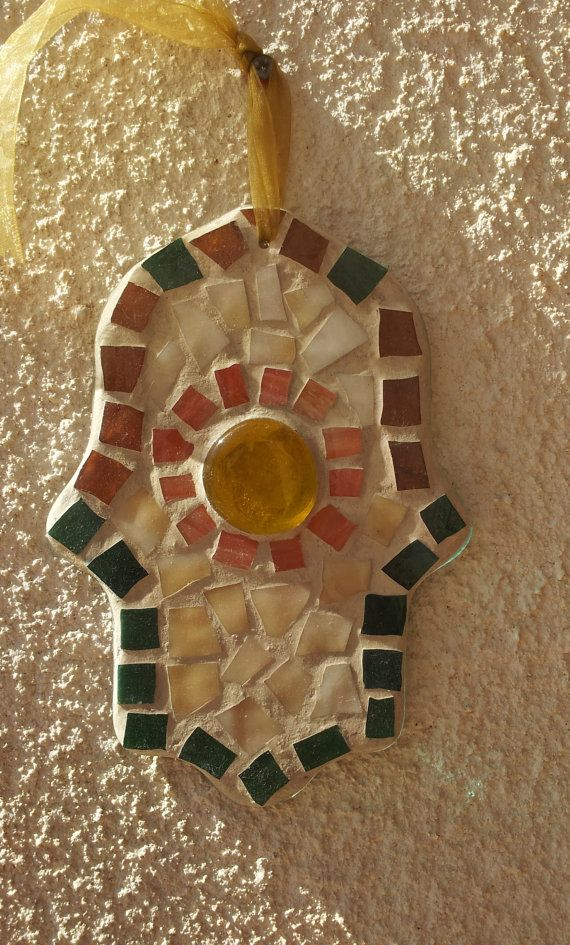 Be Inspired To Make Your Own Path With This Gorgeous: Handmade, Hamsa Glass Mosaic Inspiration. Make Your Own
