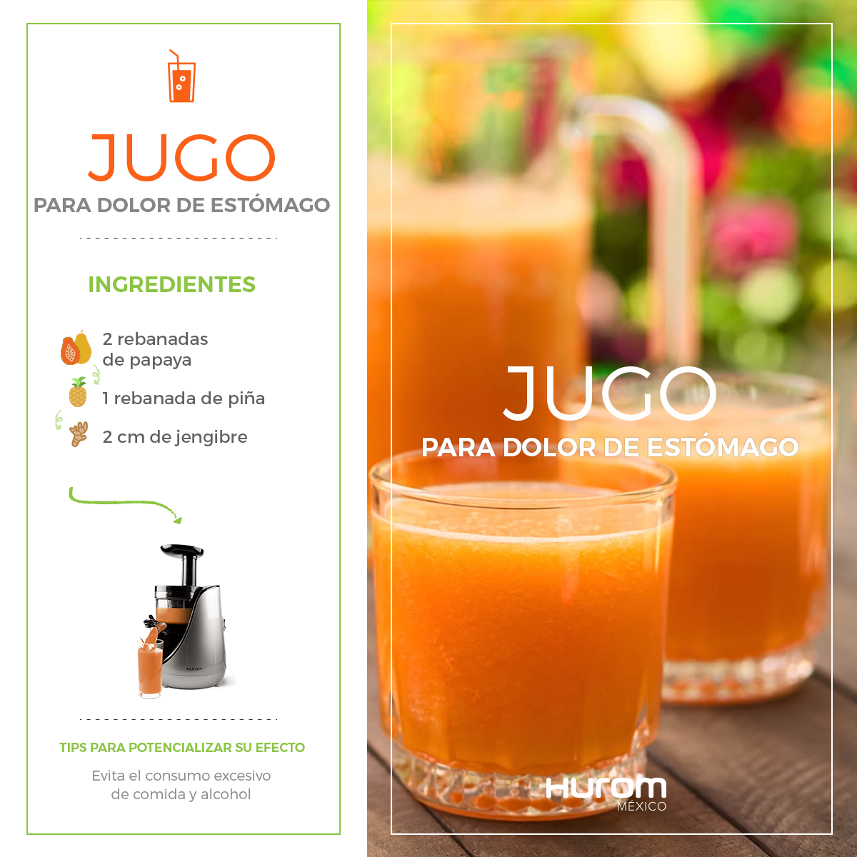 Receta Jugo para el dolor de estómago Prepara este jugo con el mejor ...