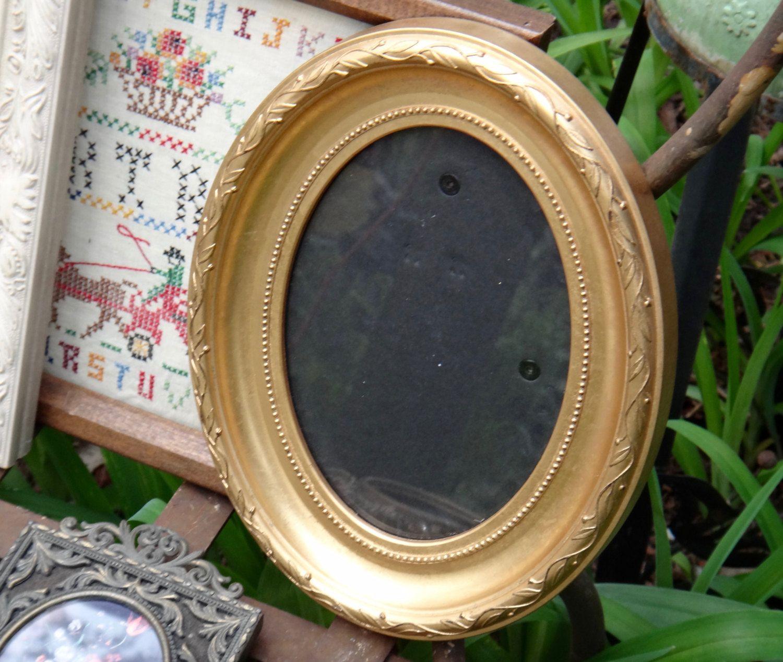 Gold Oval Frame, Frame, Burnes of Boston, Vintage Frame, Cottage ...