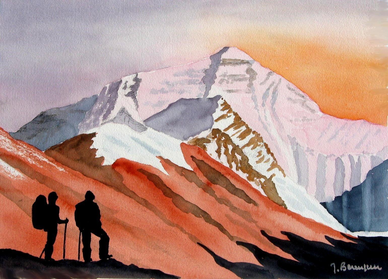 Everest Face N Avec Images Peinture Aquarelle Image Numerique