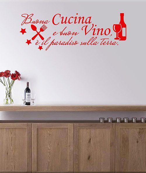 Gallery of adesivi murali frasi aforismi un nuovo modo per for Stickers murali cucina