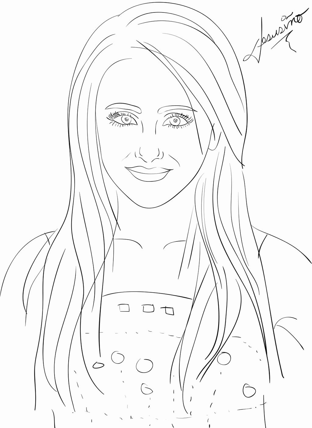 Ariana Grande Coloring Pages Designs Collections