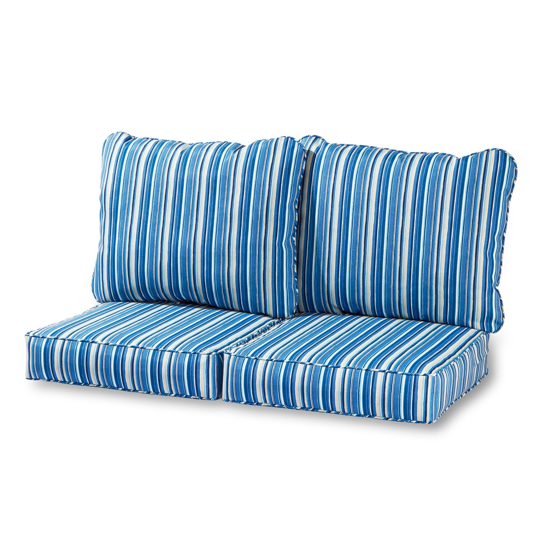 Greendale Deep Seat Outdoor Loveseat Cushion Set