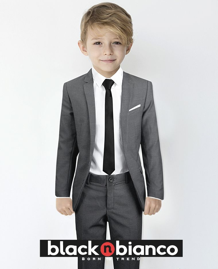 54e234b7a473f7 Our highquest quality Boys Gray Textured Suit Slim Fit. Comes with  everything you need for