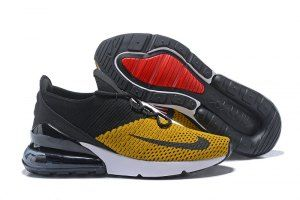 c7e7a01df5a3 Nike Air Max 270 Flyknit Yellow Black White Mens Womens Sneakers ...