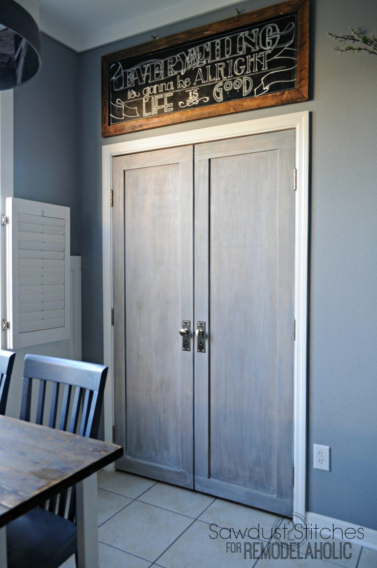 Bifold Pantry Doors Into Paneled French Doors Love This Modern