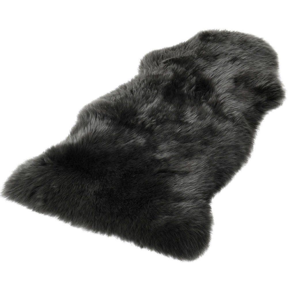 Grey Deep Pile Sheepskin Rug in 2020 Sheepskin rug