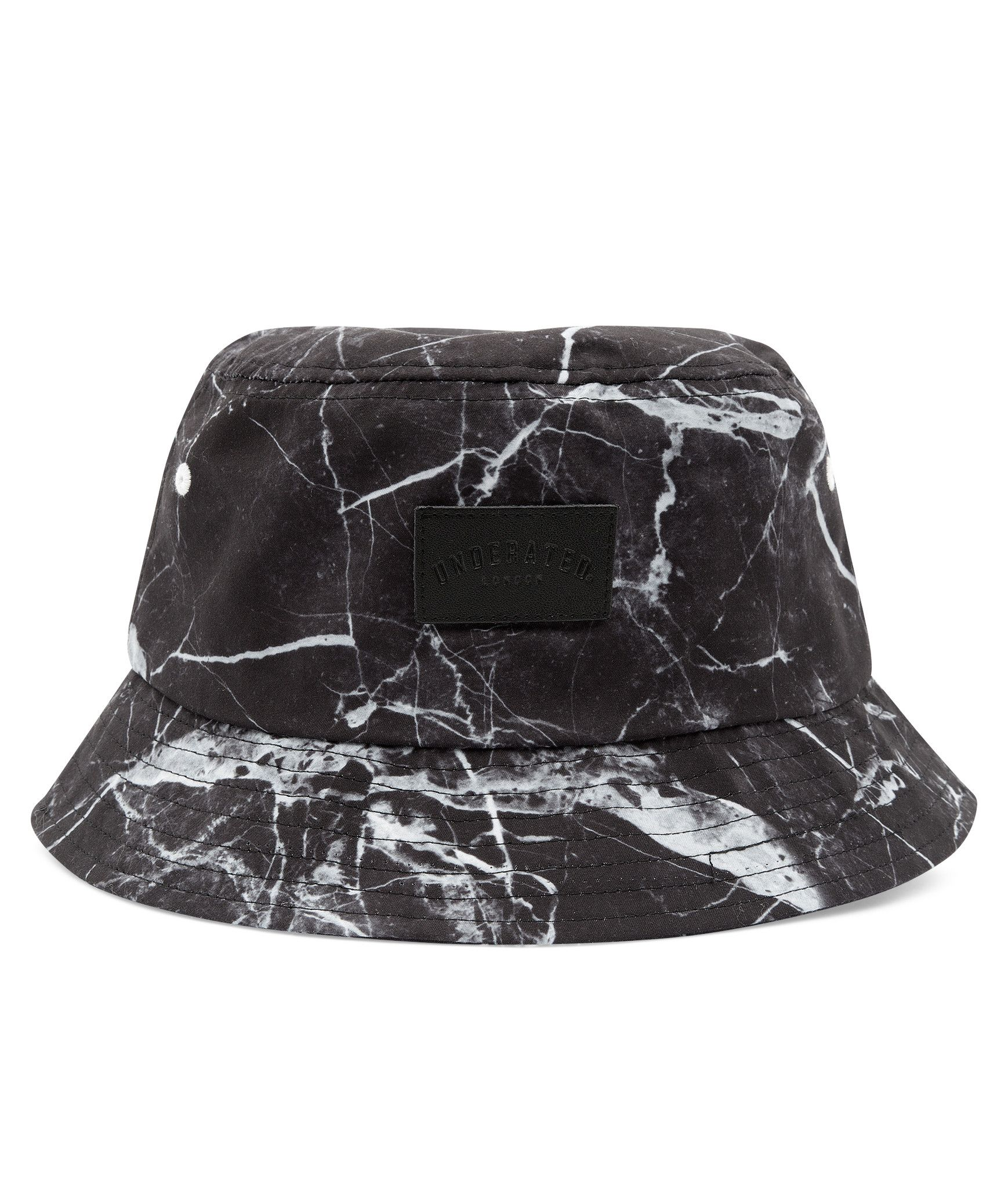 Cracked Marble Bucket Hat Black Hats Hats For Men Mens Accessories