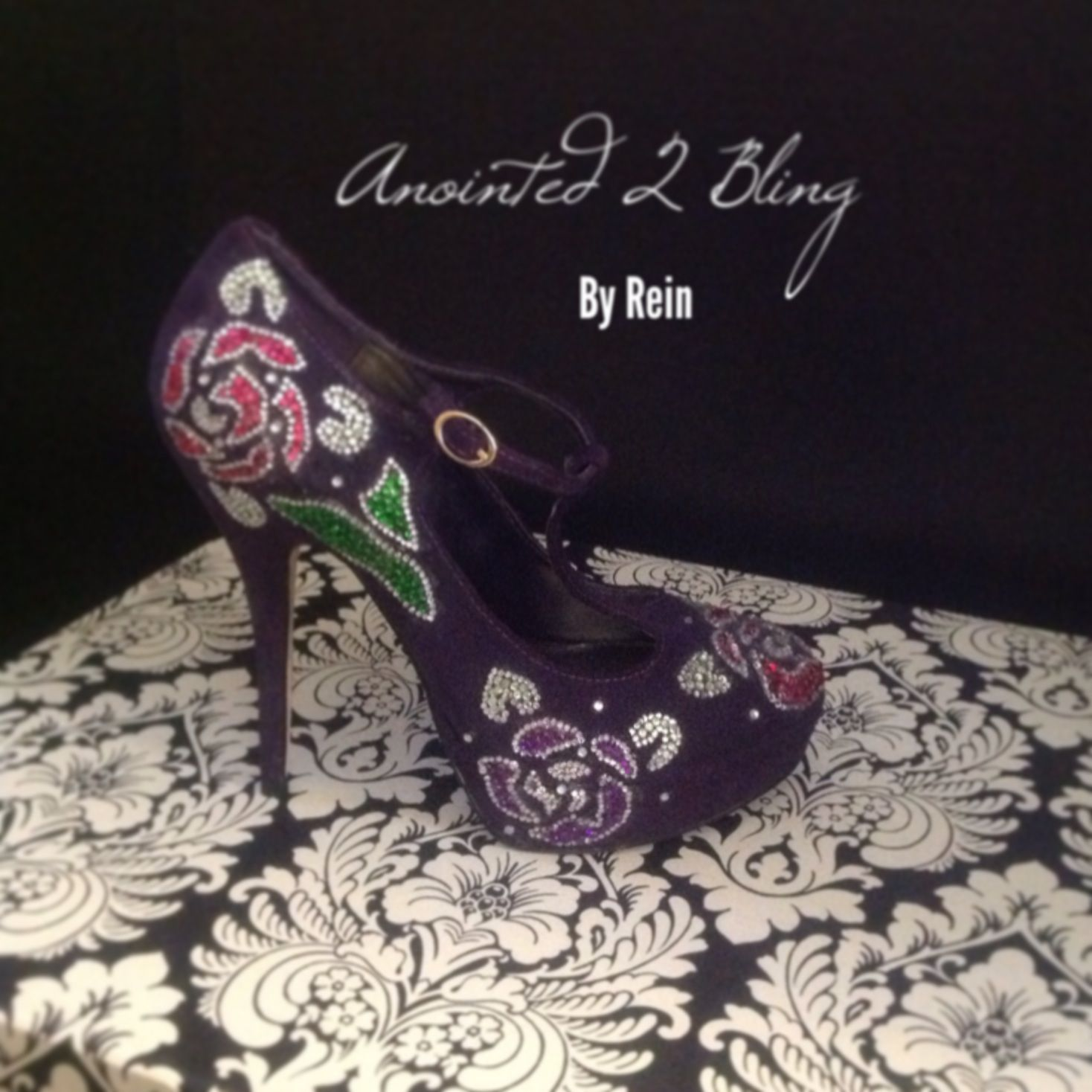Add flowers to a plain shoe. 1 of My favs