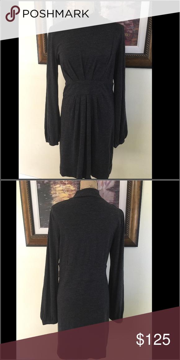 e528b7166e2 Theory Charcoal Gray Wool Sweater Dress Theory Charcoal Gray Wool Long  Sleeves Sweater Dress. Size ‼