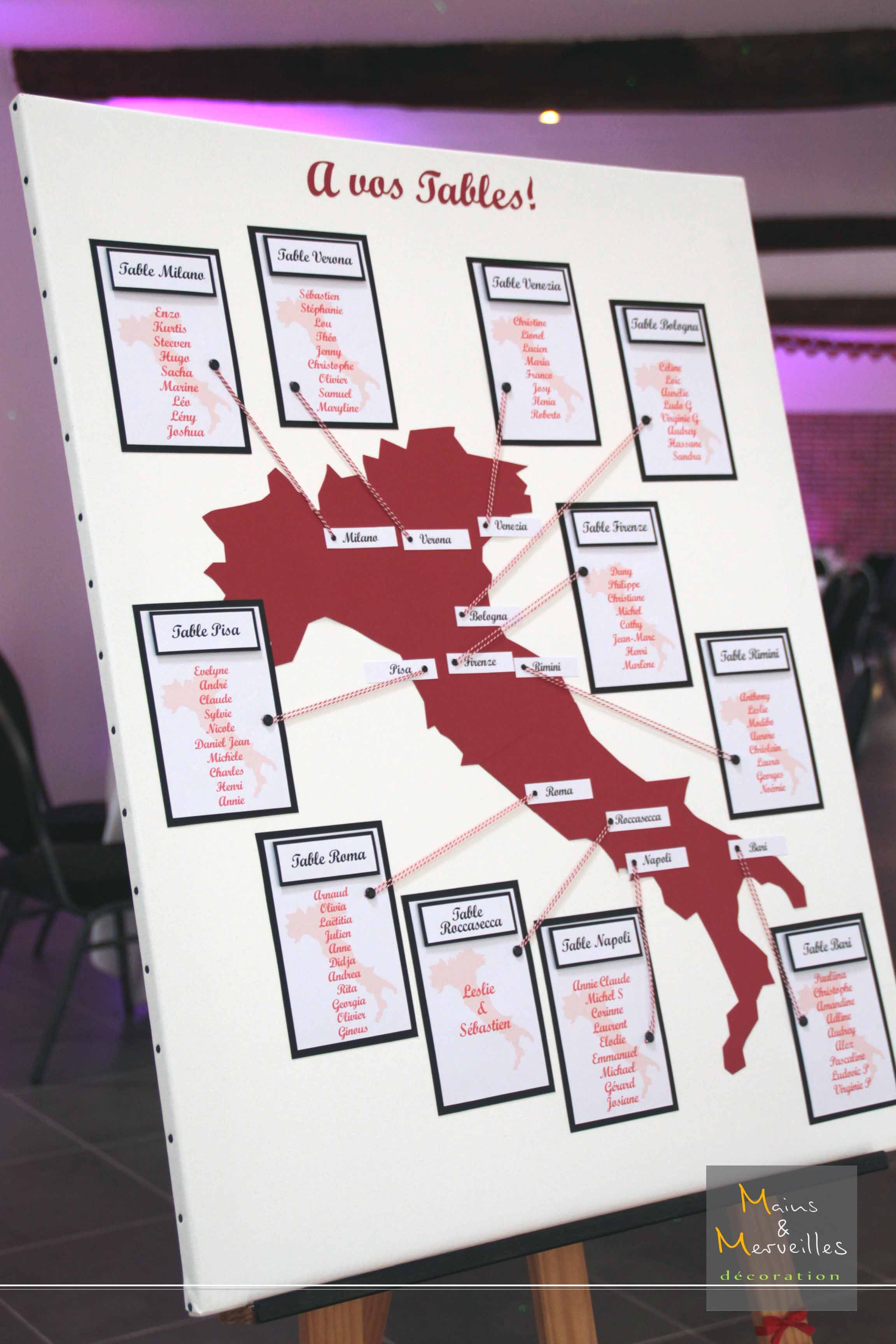 Plan De Table Personnalise Plan De Table Mariage Plan De Table Table Mariage Voyage