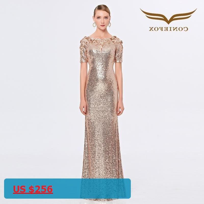 Coniefox 31391 Luxury ladies vestidos de festa vestido longo para casamento  zuhair murad sexy long evening bbcaa8c2820c