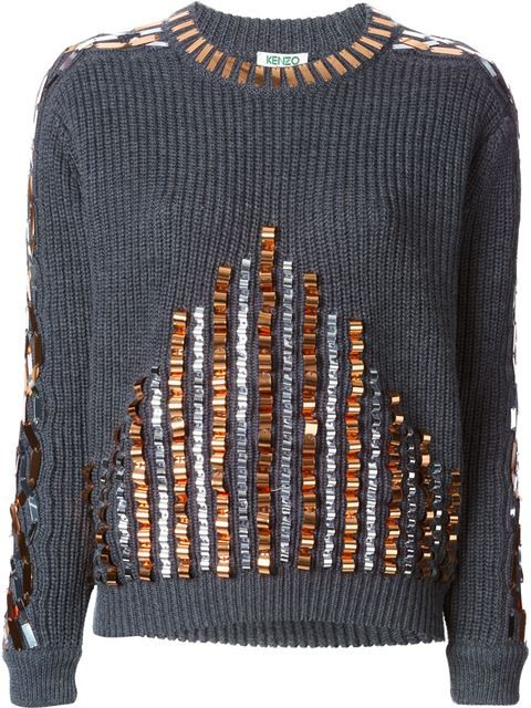 Shop Kenzo embellished sweater in Dante 5 Women from the world's best independent boutiques at farfetch.com. Over 1000 designers from 60 boutiques in one website.