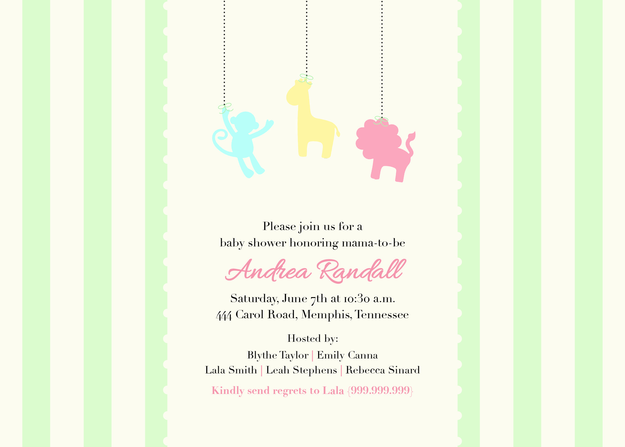 Gender Neutral Baby Shower Invitation {Digital }