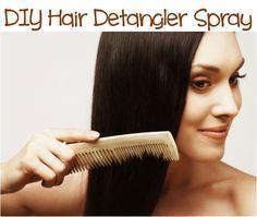 How to Make Homemade Hair Detangler Spray!  #diy #hair #detangler