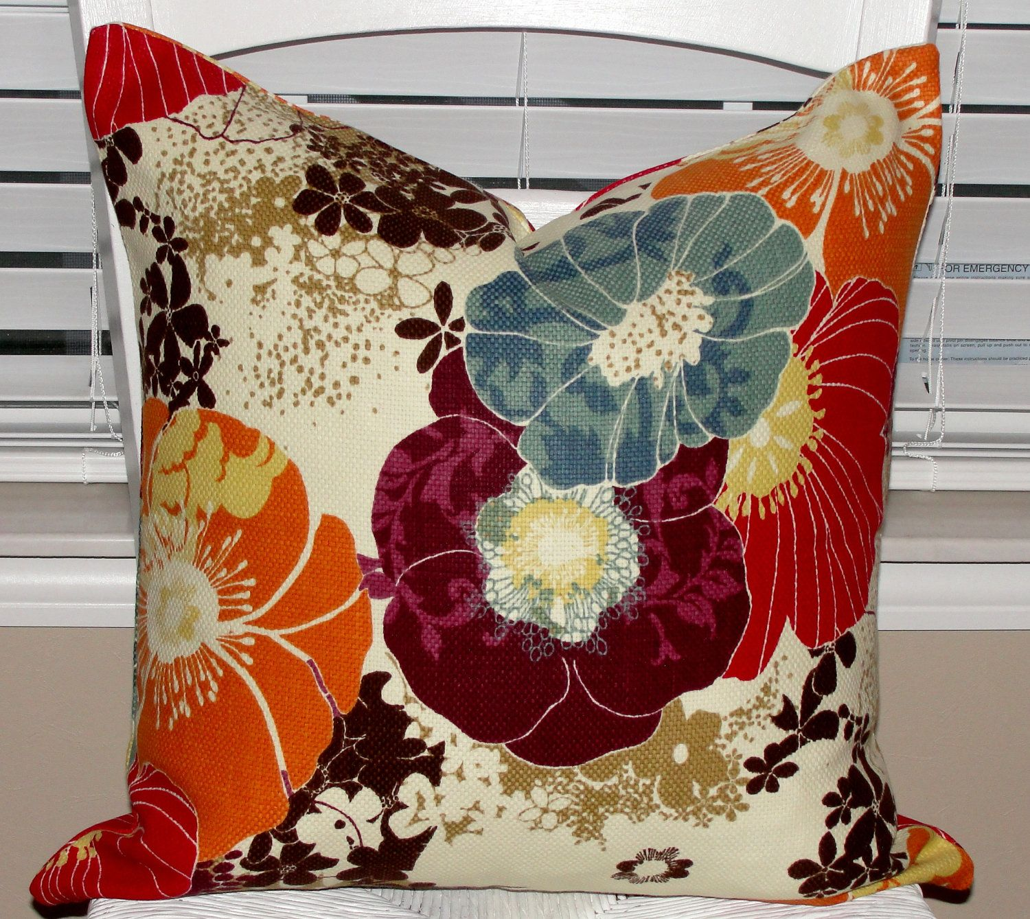 Pair of Designer Throw Pillow Covers 15x15 Richloom Amelia ...