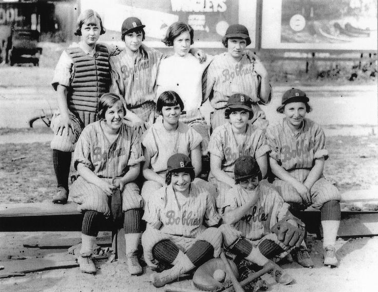 Image result for vintage women playing sports Baseball