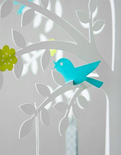 cute paper wishing tree table decor