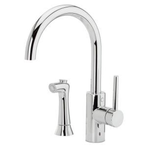 Pfister Solo Single Handle Side Sprayer Kitchen Faucet In Polished