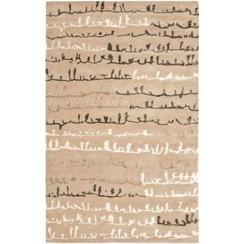 Soho Beige and Multi Rectangle: 5 Ft. In. x 8 Ft. In. Area Rug