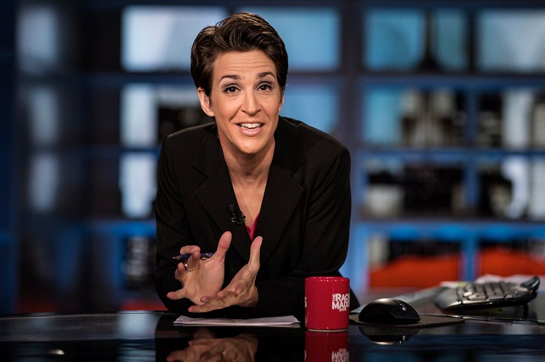Good news for msnbc rachel maddow has the most watched non fox news show
