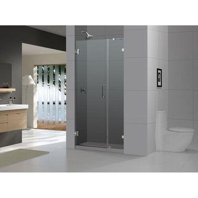Dreamline Unidoor Lux 42 X 72 Hinged Frameless Shower Door With
