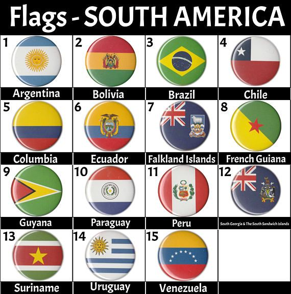 South America Flags Countries 1.5 Pinback ons Pins ... on map of belize, map of western hemisphere, map of ecuador, map of nicaragua, map of bahamas, map of united states, map of honduras, map of caribbean, map of middle east, map of costa rica, map of guyana, map of argentina, map of antarctica, map of venezuela, map of guatemala, map of paraguay, map of aruba, map of bolivia, map of dominican republic, map of the americas,