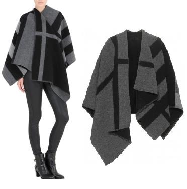Amari Cashmere/Wool Grey Poncho