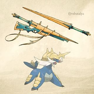 Samurott's spirit weapon: Currently the only one of its caliber, this is both a sword and a bazooka! Conditions to wield: if you got oshawott's weapon and your weapon transform when it evolved into dewott, you should be able to get it. (You cannot get it any other way.)