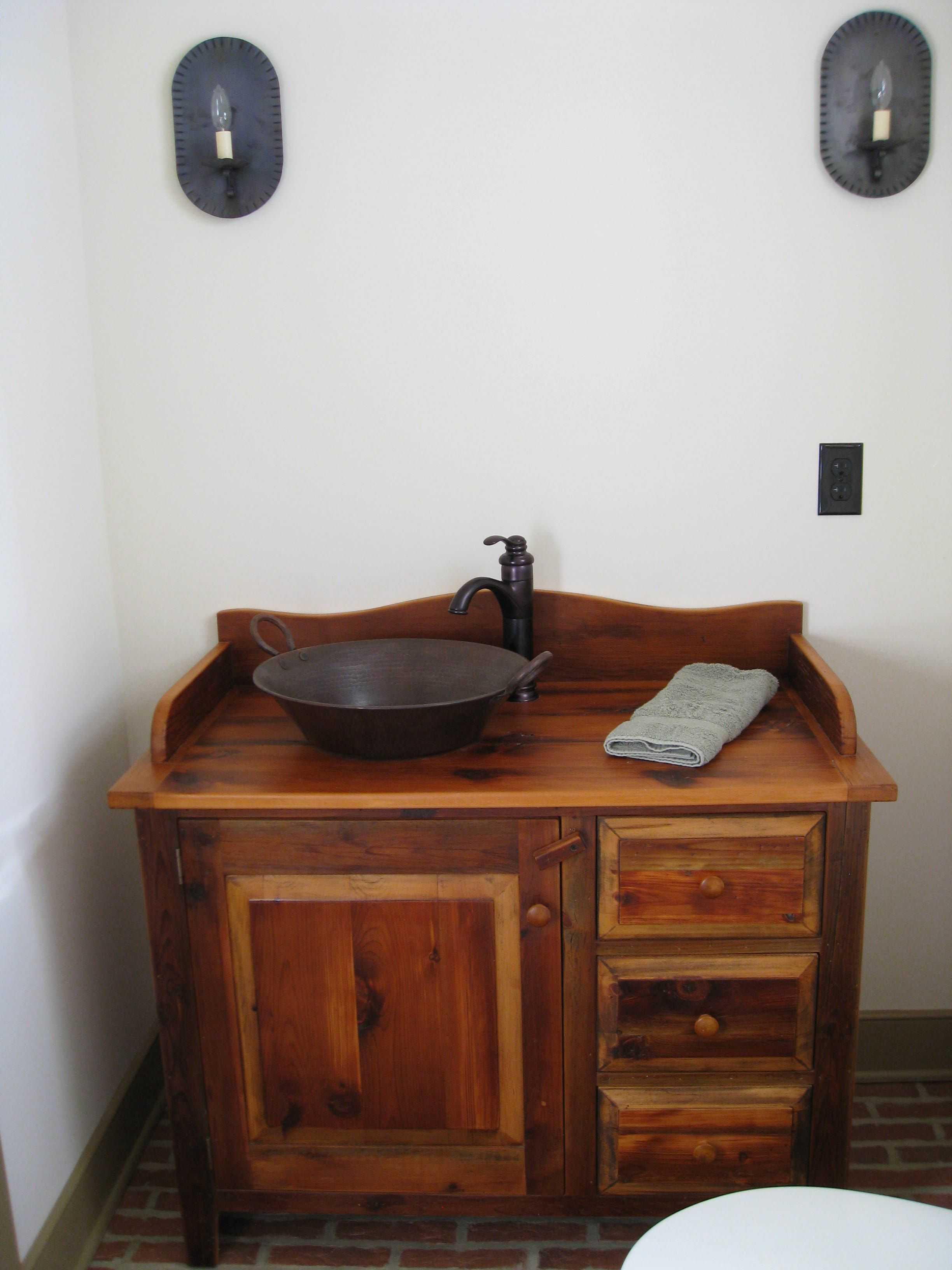 front at this sink the dry antique through best bathroom vanity door sinks x cool vanities charming