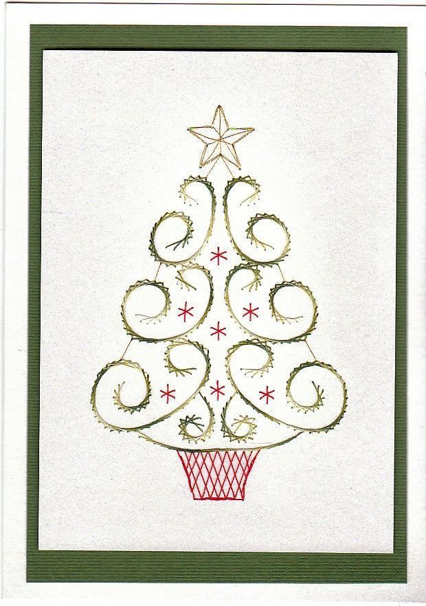 Free Christmas Paper Embroidery Patterns Free Paper Stitching