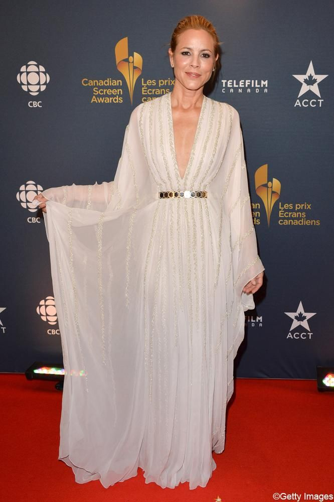 Les plus belles robes des Canadian Screen Awards 2014 : Maria Bello (Getty Images) | Elle Québec