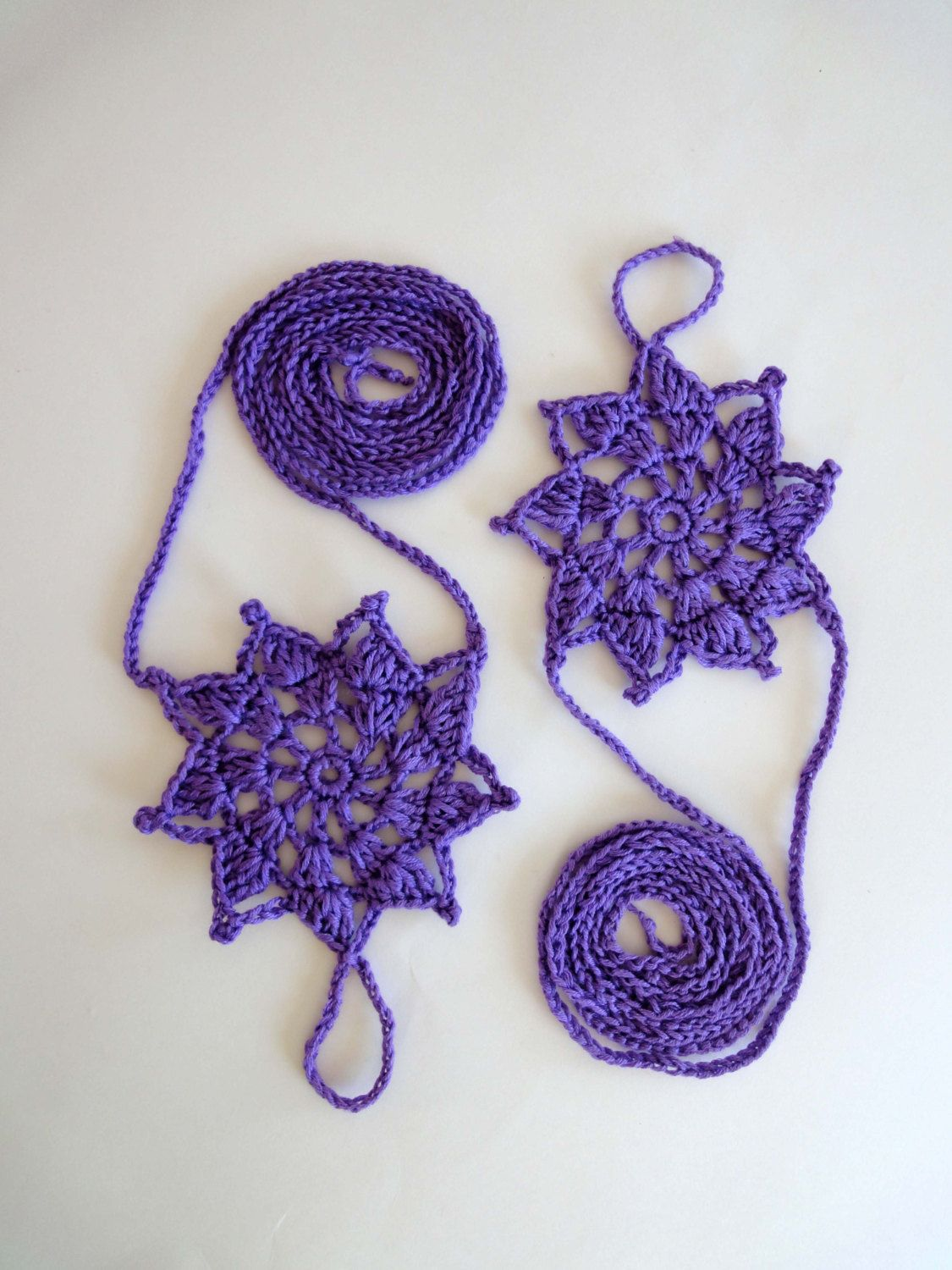 Lace barefoot sandals purple or colors openwork stars womanus