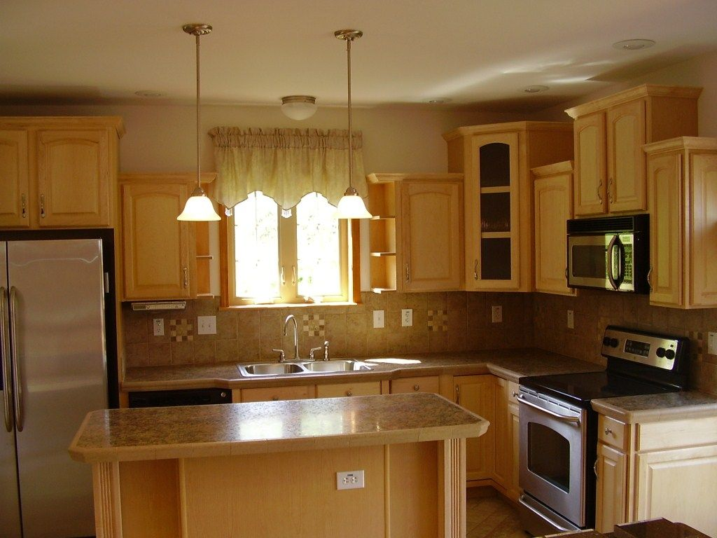 Small Kitchens with Light Wood Floors | Kitchen: Fair L ...