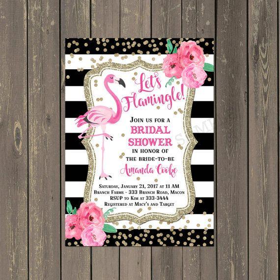 Letu0027s Flamingle Bridal Shower Invitation, Pink Flamingo and - bachelorette invitation template