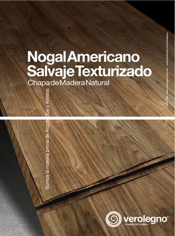 Chapa de madera natural verolegno nogal americano salvaje - Color nogal americano ...