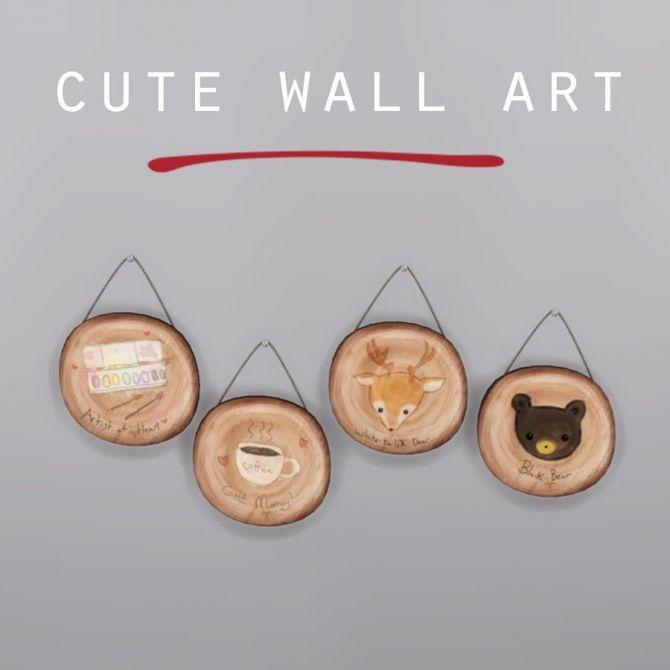 Sims 4 Updates Leo Objects Decor Cute Wall Art Custom