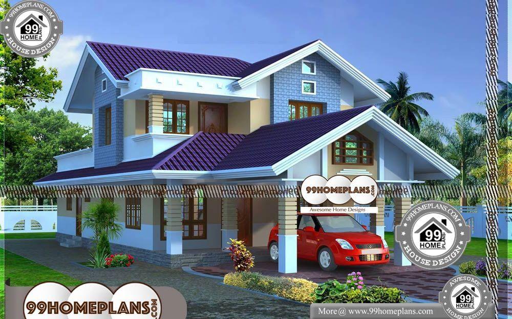 25 Lakhs Budget House Plans Kerala 2 Story 1969 Sqft Home 25 Lakhs Budget House Plans Kerala Double Stor Budget House Plans Kerala House Design Home Budget