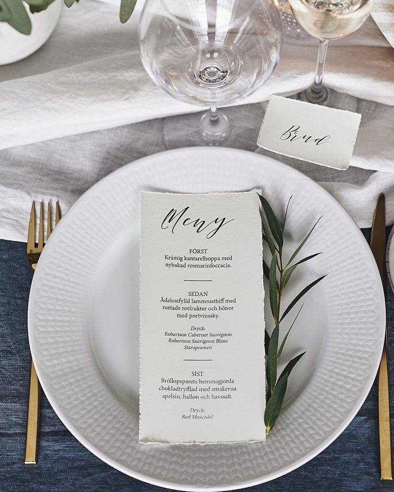 19b270fa06e9 Handrivna placeringskort och menyer är både vackert och enkelt att göra  själv.