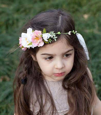 07687858cbe Tieback Flower Crown Headband