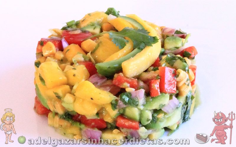 Receta saludable de ensalada de mango baja en calor as y - Comidas sanas y bajas en calorias ...