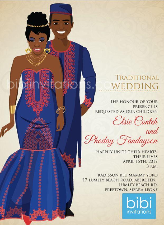 Ar Lek You Sierra Leone Traditional Wedding Invitation   Traditional ...