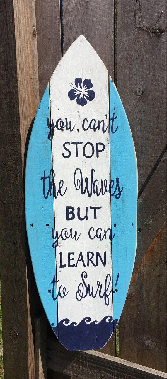 Surfboard Sign/Wooden Surfboard Sign/beach sign/surfboard wall art ...
