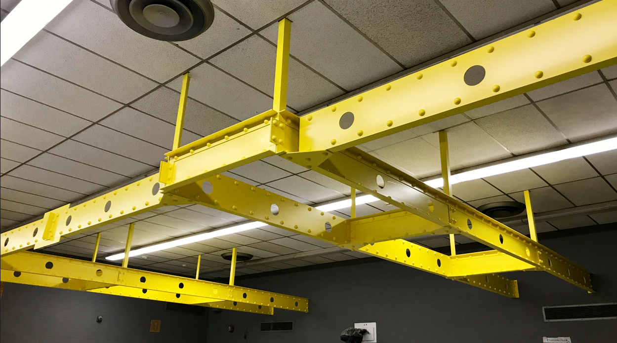 These Beams Are Made Out Of Pvc Plastic Metal Beam Beams Steel