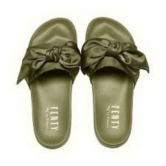 Free Shipping Puma Fenty Olive Branche Bandana Slides Slippers ... 2fc7dec17