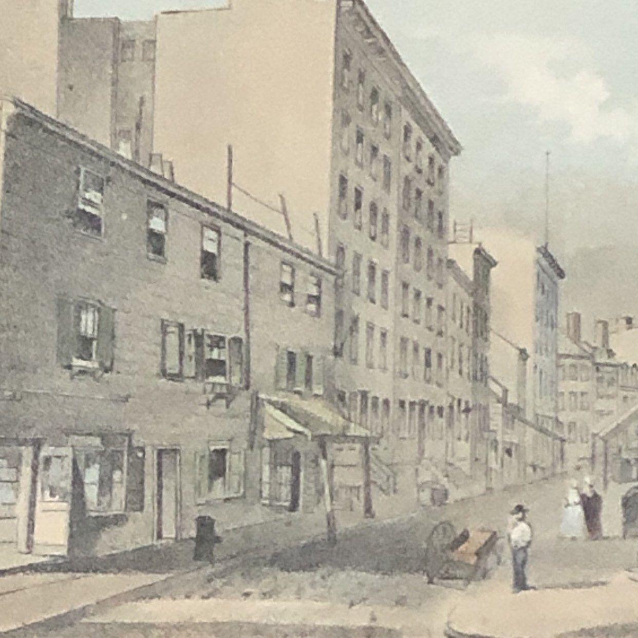 New York City Antique Print Frankfort St Vandewater St 1863