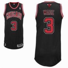 b94bcbc2762 Chicago Bulls  3 Dwyane Wade Mens Black NBA Swingman Alternate Jersey