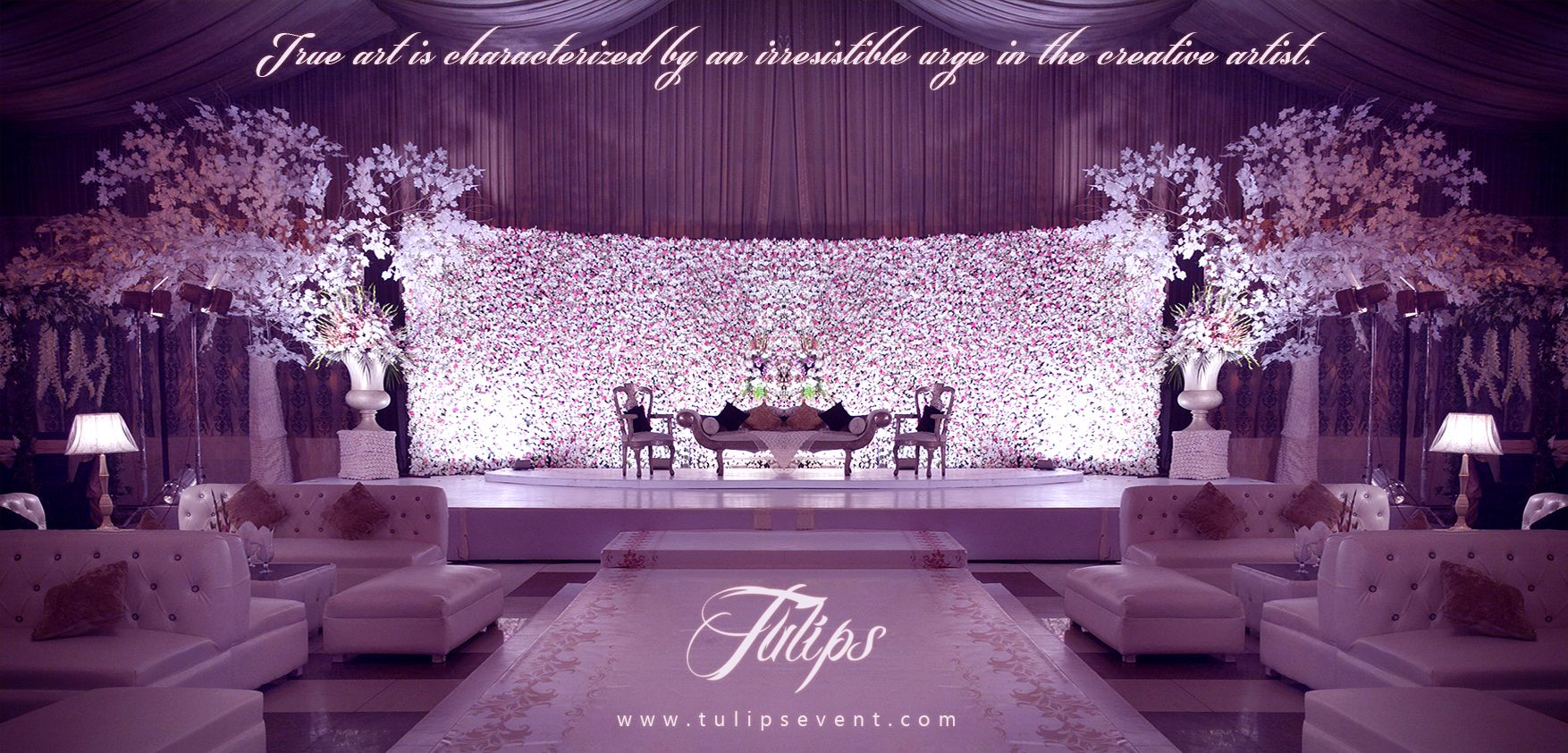 Beautiful Pakistani Wedding Stage Design By Tulips Events