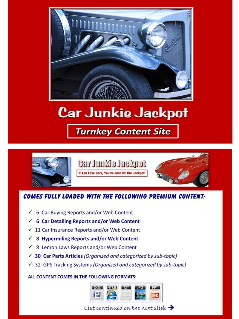Car Junkie Turnkey Content Site Done For You Value Packed And